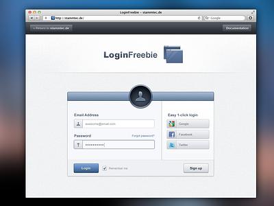 Login Box web ui ux gui blue grey box login button form clean modern