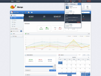 Dribbble mango dashboard full