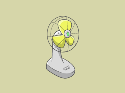 Electric fan vector shapes minimalism inspiration illustrations illustration graphicdesign graphic flat draw digital illustration digital daily concept colorful clean advertising art adobe 2d
