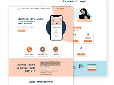 LatihID Design Website inpiration website design webdesign website web illustration mobiledesign app ui design