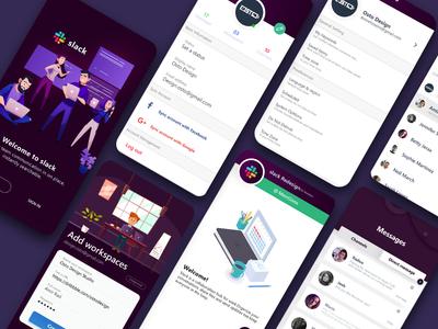 Slack Redesign Challenge ux brainy uiux trending design product design
