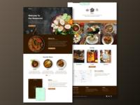 Restaurant - Landing Page restaurant uidesign uiux ui restaurantweb landingpage website webdesign