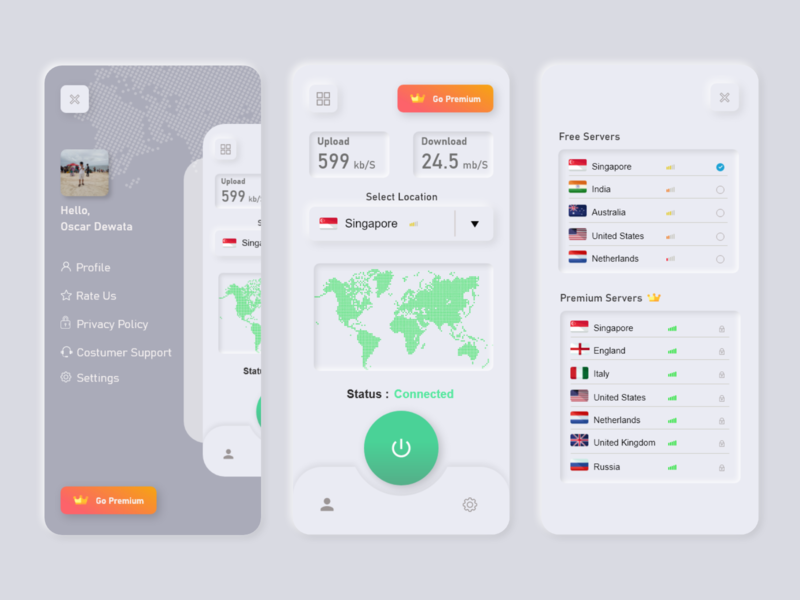 VPN redesign vpn app login screen illustrator uidesign app ui ux illustration design adobexd