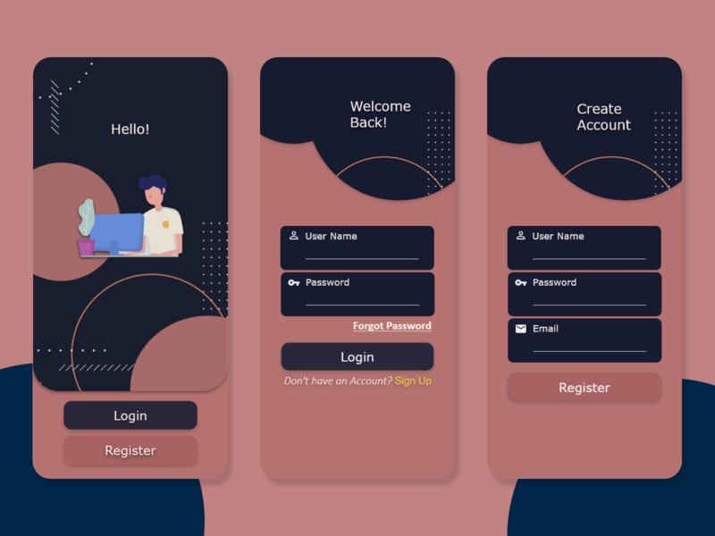 login screen login login screen illustrator uidesign app ux ui illustration design adobexd