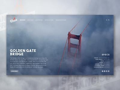 San Francisco Website Concept Design app vector photoshop typography website design uidesign webdesign ux uiux ui