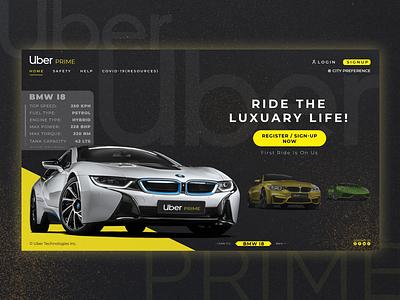 Uber Prime Website Concept Design ui design typography branding uber design uber website design uidesign webdesign ux uiux ui