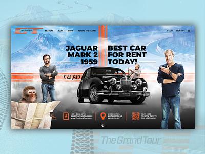 The Grand Tour Concept Website Design app vector illustration website design uidesign design webdesign ux uiux ui