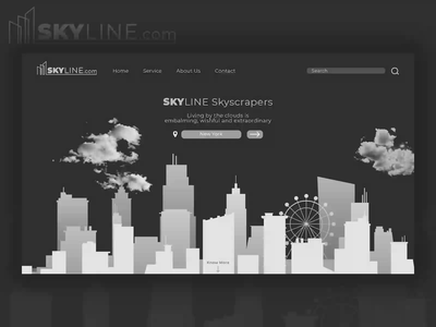 Skyline Website Design logo illustration branding website design uidesign design webdesign ux uiux ui