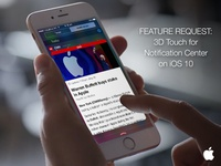 iOS 10: 3D Touch For Notification Center