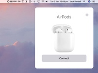 AirPods and macOS Sierra