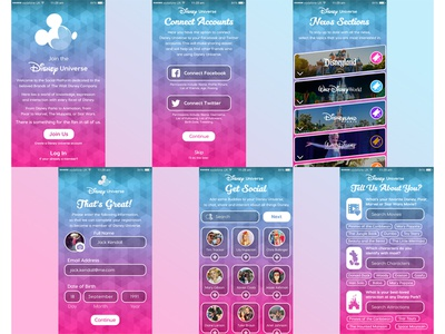 Onboarding Experience for Disney Universe - Social Platform social platform disney universe the walt disney company disney