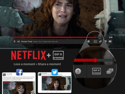 "Netflix + ""GIF It"" stranger things twitter facebook gif netflix"