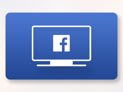 Facebook Video - Apple TV App Icon Redesign app icon tvos apple tv facebook video facebook
