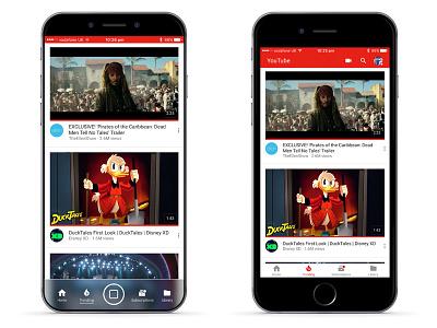 iPhone X - YouTube Tab Bar Mockup youtube ios 11 2017 iphone x iphone 8 apple