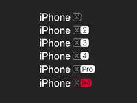 Iphone x logo iterations