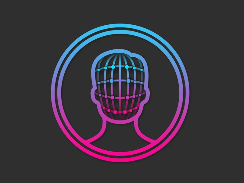iPhone X - Facial Recognition Logo ios 11 2017 iphone x iphone 8 apple