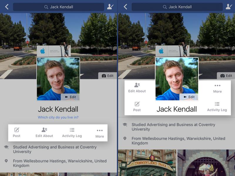 Dear Facebook - Please Reduce White Space profile iphone facebook