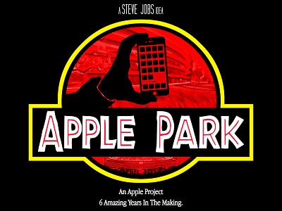 "Apple Park - ""Innovation Finds A Way"" steve spielberg jurassic park parody logo apple park apple"