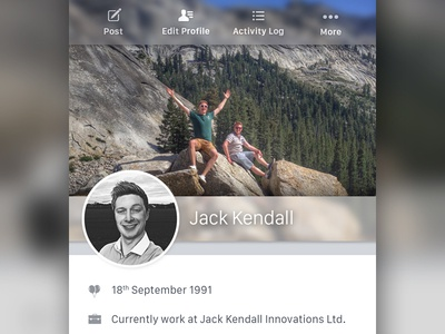 Redesigned & Rebuilt - Facebook Profile iphone ios profile facebook