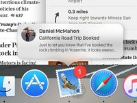 macOS Sierra - Force Touch Notification Preview