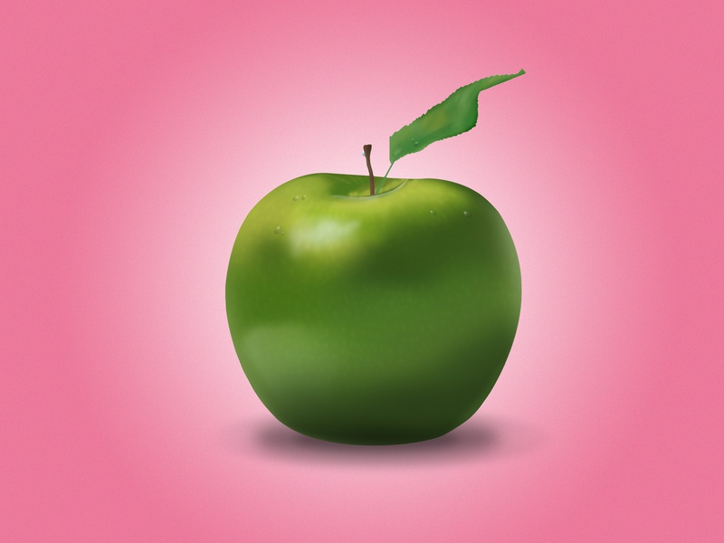 Apple illustration apple