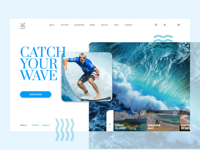 Surfing Landing page UI illustration design web branding typography branding design website landing page webdesign ux ui color clean ui best shot