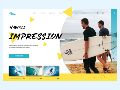Surfing Homepage illustration typography minimal landingpage branding design website web ux design ui