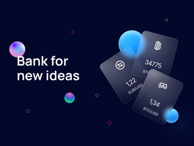Bank for new ideas bank bank card typography vector branding design website design ui