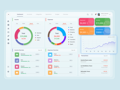 SaaS Dashboard - Finance App saas platform minimal design dashboard app finance app dashboard ui dashboard template ui ux saas design dashboard