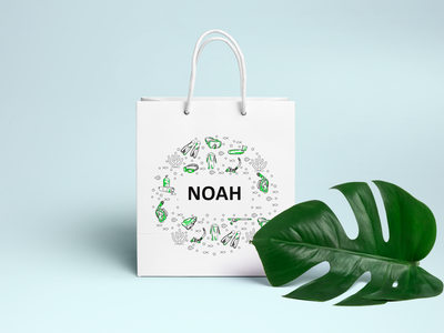 Brand Identity | Packaging Design | NOAH flat typography icon vector branding photoshop branding design minimal design logo