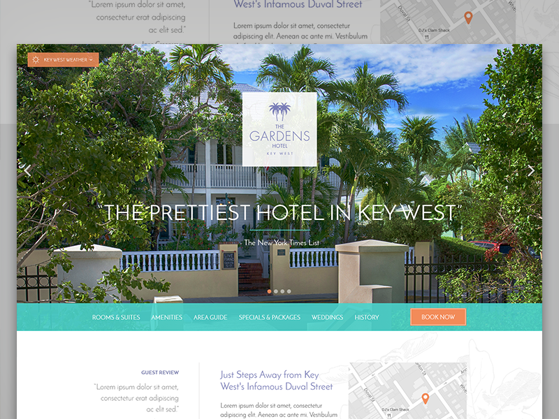 The Gardens Hotel Key West Website by Peter Nguyen - Dribbble