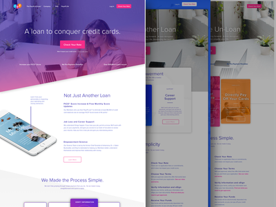 Payoff Homepage Comps payoff clean experience money ux web website homepage finance tech