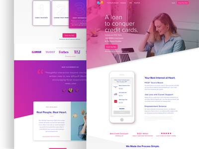 Payoff Homepage Final website web ux tech payoff money homepage finance experience clean