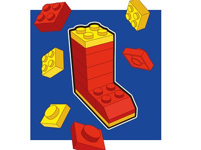 L- Lego 3d modeling 3d art 36daysoftype 36dot letter lego easymetry