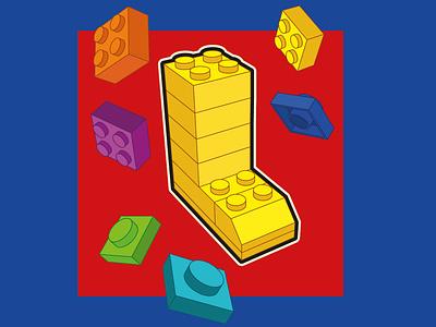 LEGO 3d modeling flat easymetry illustration 36dot 3d art 36daysoftype lettering moi3d 3d lego