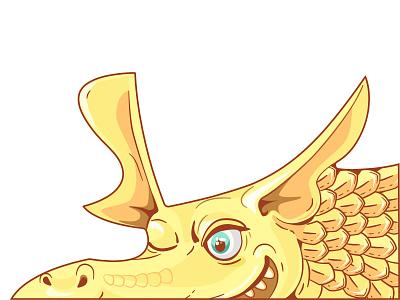 Yellow Dragon | PUZZLE illustrator yellow puzzle 2dcharacter dragon character illustration cartoon