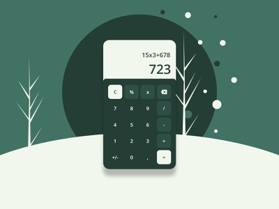 Daily UI | 004 Calculator ux ui mobile calculator vector illustration webdesign dailyui challenge app
