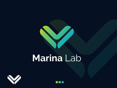 Marina Lab  logo design symbol lettering logotype unique hand drawn abstract fashion typography business logo logo modern lettermark logo mark icon branding and identity app