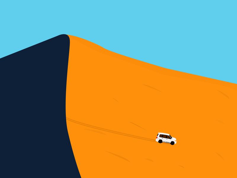 Where's the oasis? adobe graphic visual design illustrations typography typo desert safari sunrise sunset sky vector minimalismus minimal ui branding logo nature illustration
