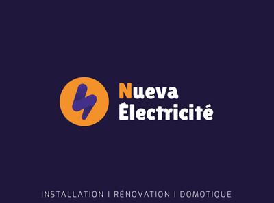 Nueva Électricité design branding logo