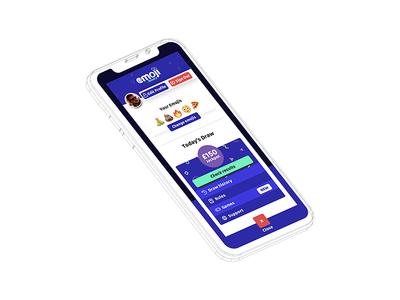New Free Emoji Lottery mobile menu account emoji fun profile play game iphone x mobile menu