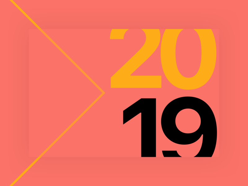 Happy New Year! 🎆 typogaphy text simple pantone new year minimal flat color of the year 2019