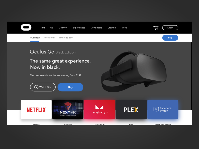 Oculus Go - Black Edition by James Genchi on Dribbble