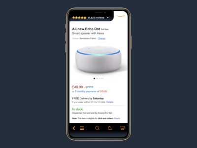 Amazon app: product page