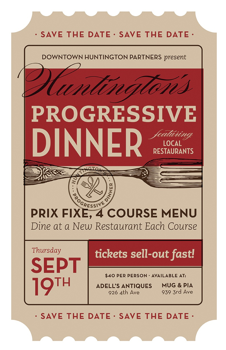Dribbble Progressive Dinner Poster By Trish Ward Jpg By