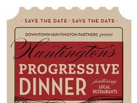 Progressive dinner poster by trish ward