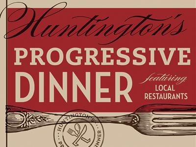 Progressive dinner poster by trish ward  detail