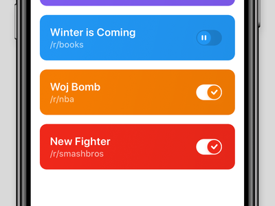 Pager: Alerts for Reddit – iOS App reddit beta ux ui mobile app ios