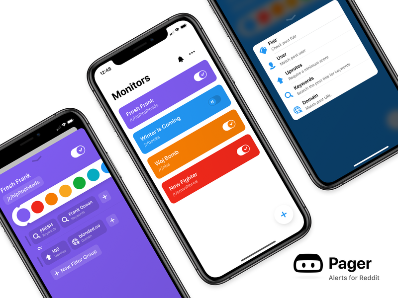 Pager: Alerts for Reddit – iOS App reddit beta ux ui mobile app ios