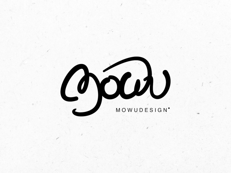 mowudesign font ux brand logos curve english handwriting illustration black logo icon